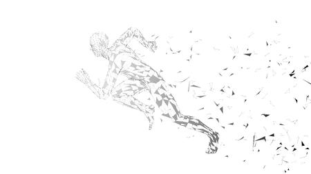 Conceptual abstract running man vector illustration