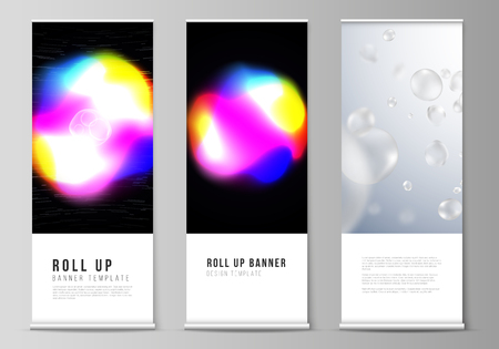 The Vector Layout Of Roll Up Banner Stands Vertical Flyers