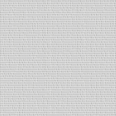 Binary code vector background with numbers one and zero. Seamless patern. Coding or hacker concept, digital technology background. Vector illustration.  イラスト・ベクター素材