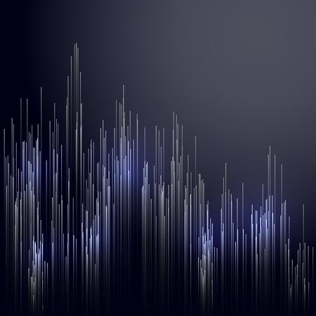 Digital technology concept abstract background. Dig data visualization. Information technology background. Vector illustration. Banque d'images