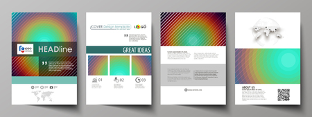 Business templates for brochure, magazine, flyer, booklet or annual report. Cover design template, easy editable vector, abstract flat layout in A4 size. Minimalistic design with circles, diagonal lines. Geometric shapes forming beautiful retro background.