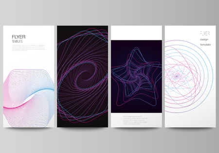 The minimalistic vector illustration of the editable layout of flyer, banner design templates. Random chaotic lines that creat real shapes. Chaos pattern, abstract texture. Order vs chaos concept
