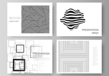 The minimalistic abstract vector illustration layout of the presentation slides design business templates. Trendy geometric abstract background in minimalistic flat style with dynamic composition.