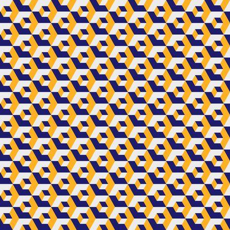Geometric hexagonal pattern, yellow color grid texture. Seamless hexagon background. Vector illustration.