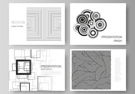 The minimalistic abstract vector illustration layout of the presentation slides design business templates. Trendy geometric abstract background in minimalistic flat style with dynamic composition