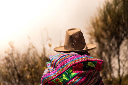 ペルーからの典型的な人 写真素材