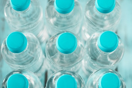 Bottles of natural water Stock Photo