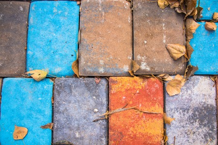 Colored brick texture. Vividly colored background