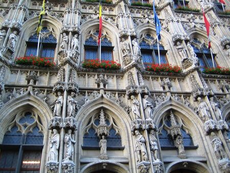 leuven: City council in Leuven, Belgium Stock Photo