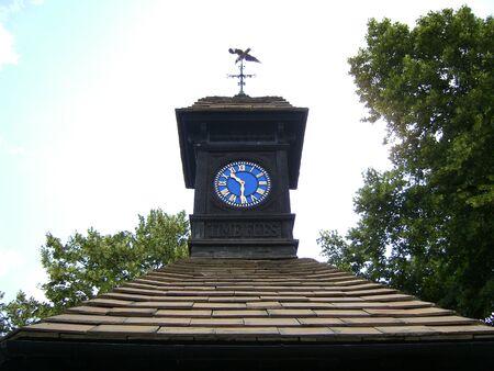 hyde: Clock in Hyde Park Stock Photo