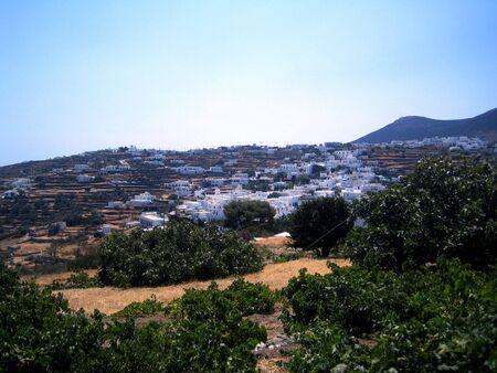 Village on a greek island, Paros photo