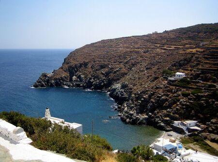 Cove on a greek island photo