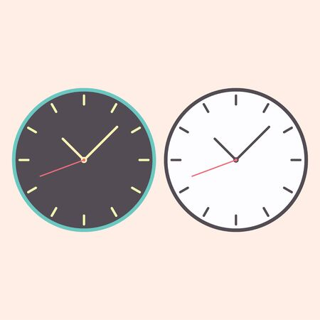 Flat watch clock with arow icon from warm color isolated on background. EPS 10 vector illustration Vektorové ilustrace
