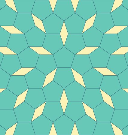 Geometric shape pentagon with rhomb. Abstract vector EPS 10 illustration