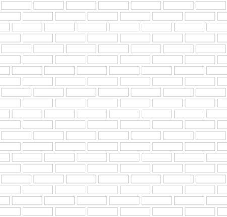 Fondo de pared de ladrillo de borde de contorno gris y blanco de vector. Albañilería urbana de textura antigua. Fondo de pantalla de bloque de arquitectura vintage. Ilustración de sala de fachada retro