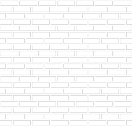 Vector gray and white outline border brick wall background. Old texture urban masonry. Vintage architecture block wallpaper. Retro facade room illustration