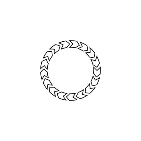 Vector outline bar website buffer loader or preloader icon illustration. Çizim