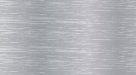Vector texture of aluminum. Background metal brushes with shiny light. White and grey steel material wallpaper. EPS 10 illustration. Ilustração Vetorial
