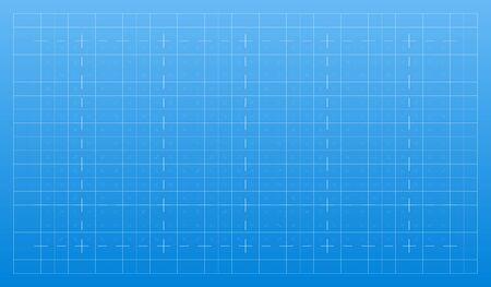 Lignes blanches sur fond bleu. Grille technique architecturale des traits pour le plan. Texture graphique de papier de modèle. Motif de toile de fond abstrait