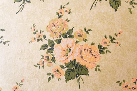 the trappings: flower wallpaper