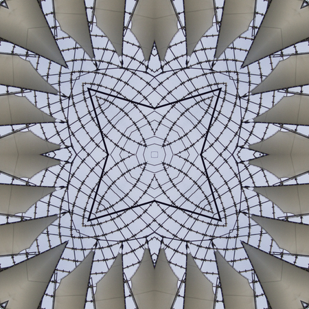 repetitive: kaleidoscope square texture pattern symmetry background abstract wallpaper abstraction textured repetitive geometric gray blue lines