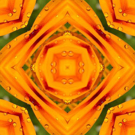 repetitive: kaleidoscope square texture pattern symmetry background abstract wallpaper abstraction textured repetitive geometric orange