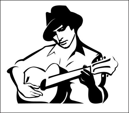 brooding: guitarist playing guitar