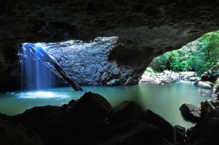 The Natural Bridge at Springbrook National Park in Queensland Australia. Фото со стока
