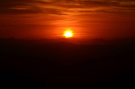 gold coast: Dramatic sunset from Mount Tamborine in Gold Coast Queensland Australia
