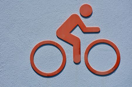 cycler: Icon of a person rids a bicycle. Cycling background and texture.