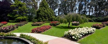 north island: The Rose Garden of Palmerston North, North Island, New Zealand.