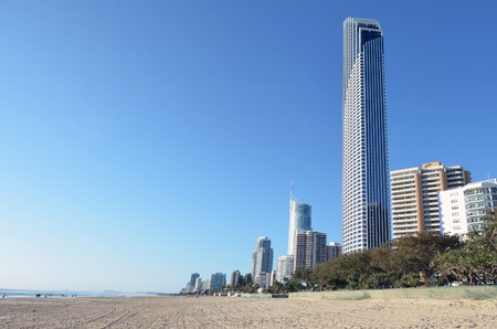 gold coast: Surfers Paradise skyline in Gold Coast Queensland, Australia. Stock Photo