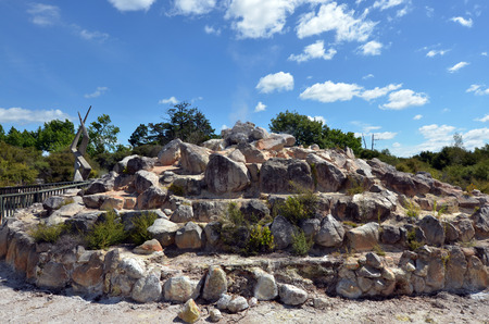 sulphide: Geyser in Kuirau Park Rotorua, New Zealand. Stock Photo