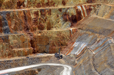 martha: WAIHI, NZL - JAN 19 2015:Martha Gold Mine in Waihi. Its one of the most important gold and silver mines in the world.100,000 oz of gold and 700,000 oz of silver have been produced annually since 1988