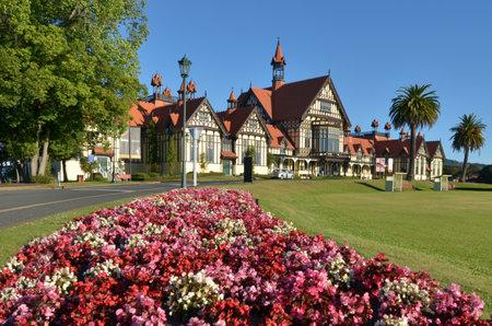 ROTORUA, NZL - JAN 11 2015:Rotorua Museum of Art and History.Its an iconic symbol and major tourist attraction of Rotorua, New Zealand.