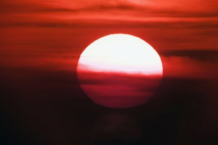 atmospheric: Sunset sky.