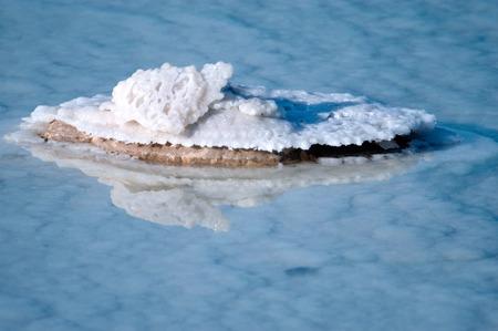 dead sea: Dead Sea Salt on a rock at the Dead sea, Israel.