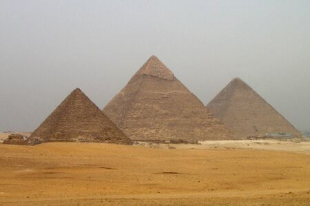 menkaure: The great pyramids of Giza Cairo Egypt.
