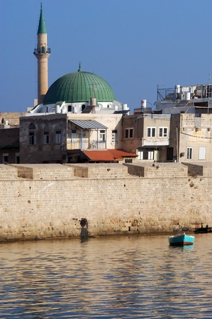 akko: Jezzar Pasha Mosque in Acre or Akko, Israel.