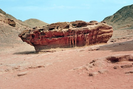 timna: Geological rock formations in Timna Park Israel.