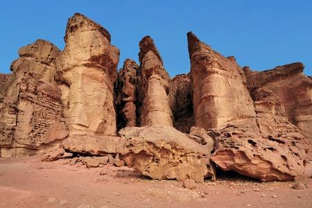 Solomons pillars in Timna Park, Israel. photo