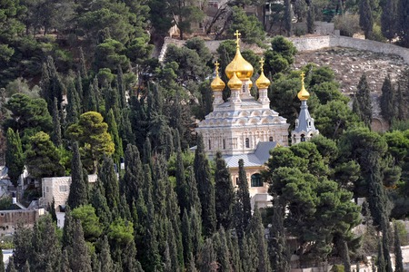 St. Mary Magdalene Church in Mount of Olives in Jerusalem, Israel. photo