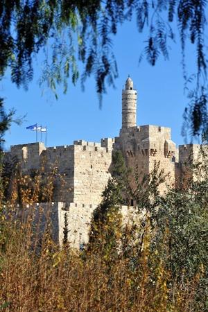 citadel: King David Citadel Jerusalem, Israel. Stock Photo