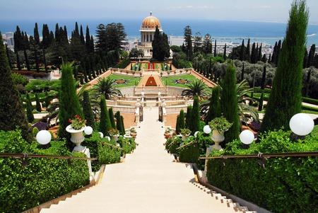 The Bahai Temple and gardens in Haifa, Israel. photo