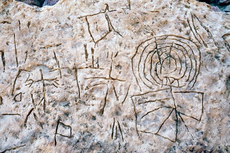 timna: Murals in Timna Park, Israel.