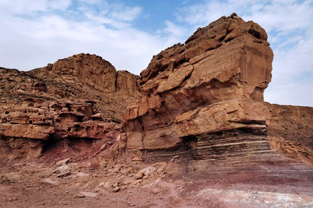 arava: Geological rock formations in Timna Park, Israel. Stock Photo