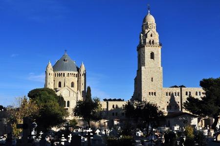 Hagia Maria Sion Abbey Church in Mt Zion Jerusalem, Israel. photo