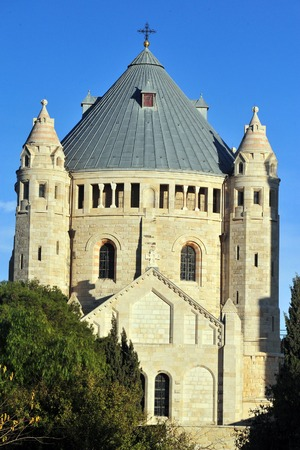 Hagia Maria Sion Abbey Church in Mt Zion Jerusalem, Israel. photo