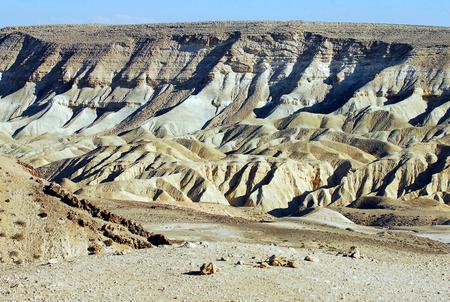 nahal: View of Nahal Tzin from Kibbutz Sde Boker, Negev Desert, Israel. Stock Photo