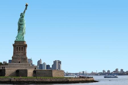 The Statue of liberty Manhattan, New York, USA. photo